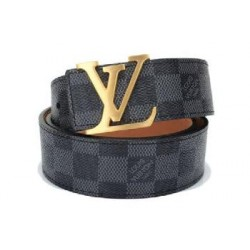 LV Belt Louis Vuitton Belt For Men Grey Check LV ( Free Size )