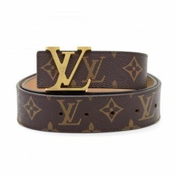 LV Belt Louis Vuitton Belt For Men Basic Monogram LV ( Free Size )