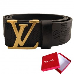 Black LV Belt Louis Vuitton Belt For Men Black LV ( Free Size )