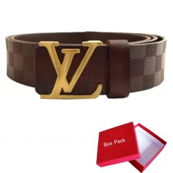 Brown LV Belt Louis Vuitton Belt For Men Brown LV ( Free Size )
