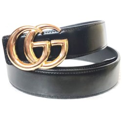 Gucci Belt Black GG Buckle Gucci Belt For Men Imported Belt ( Free Size )