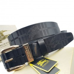 Burberry Belt Black For Men B Golden Buckle Belt ( Free Size )