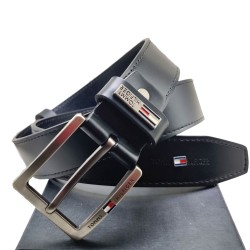 Tommy Black Formal Belt Black Tommy Belt ( Free Size )