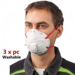 3M 8210 N95 Mask Anti Virus Dust Pollution Protection Washable Mask For Men Women - Pack Of 3