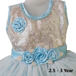 Kids Party Wear Frock Dress For Girl 2.5 - 3 Year Kids Frock