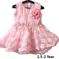 Kids Frock Pink Color Frock For Girl 1 to 2 Year Girl kids Dress