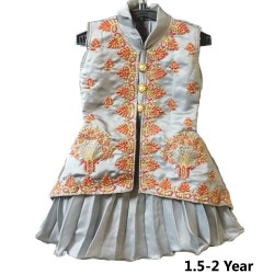 Kids Girl Frock For 1.5 - 2 Year Kids Baby Girl ( Nylon Mix Fabric )
