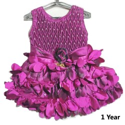 Kids Frock Dress Purple Frock For 1 Year Baby Girl floral Dress